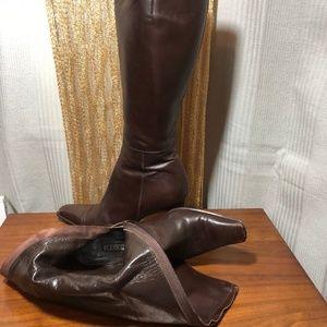 Antonio Eboli Brown Leather Boots Size 38.5